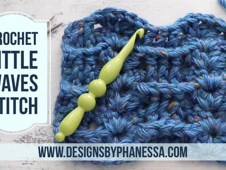 Crochet Little Waves Stitch (in Rows) Pattern & Tutorial