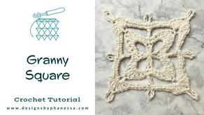 Crochet Granny Square Pattern + Tutorial
