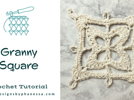 Crochet Granny Square Pattern + Tutorial