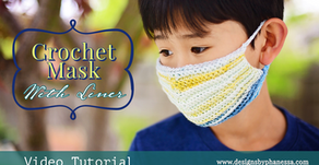 Crochet Face Mask with Liner Pattern +  Tutorial