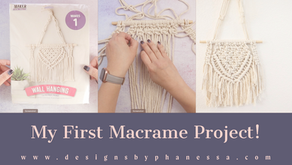 Trying Macrame for the first time!