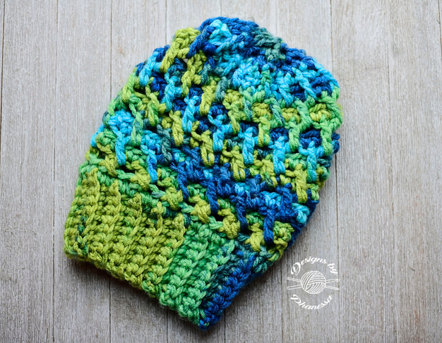 83bee1293db Crochet Rippled Slouch Beanie Pattern   Tutorial