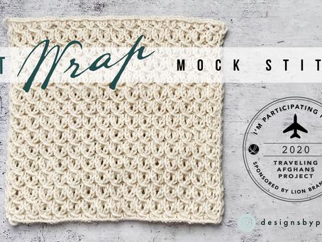 """Traveling Afghan #9"" Knit Wrap Mock Stitch Pattern Tutorial"
