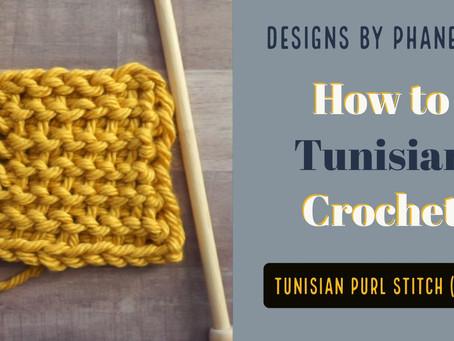 Tunisian Purl Stitch (TPS) Tutorial