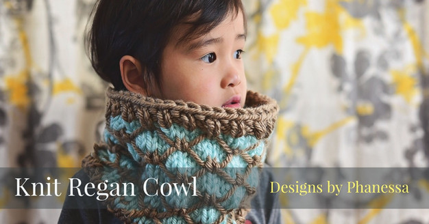 Knit Regan Cowl Pattern Tutorial