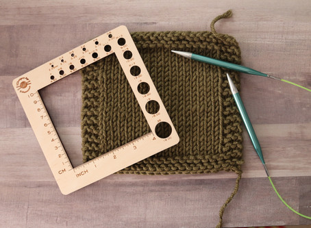 How to Knit & Measure a Gauge Swatch