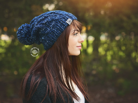 Casey Slouch Beanie (Adult size) Pattern & Tutorial