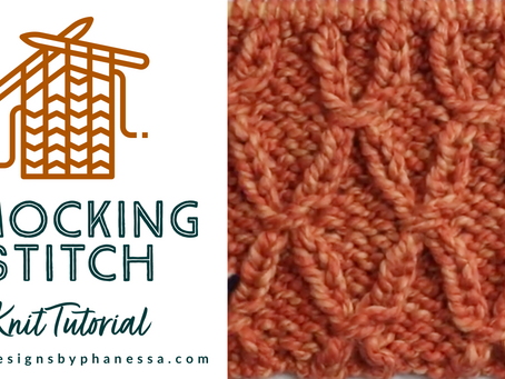 Knit Smocking Stitch Tutorial