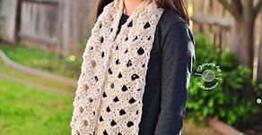 Crochet Lacy Spring Scarf Pattern
