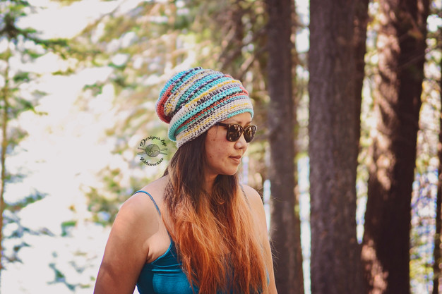 b3180d060ce Crochet Ribbed Slouch Beanie Free Pattern