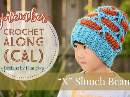 """""""X"""" Slouch Beanie Crochet Along (CAL)"""