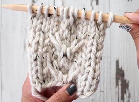 Knit C3R & C3L Stitch Tutorial