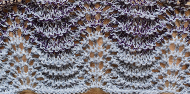 Knit Lace Stitch Pattern Tutorial