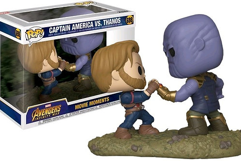 Cap vs Thanos movie moment funko pop