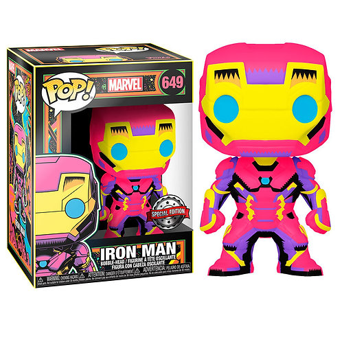 IRON MAN 649 Black Light Neon