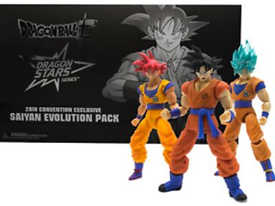 Dragon Stars Series SDCC 2018 Saiyan Evolution Pack