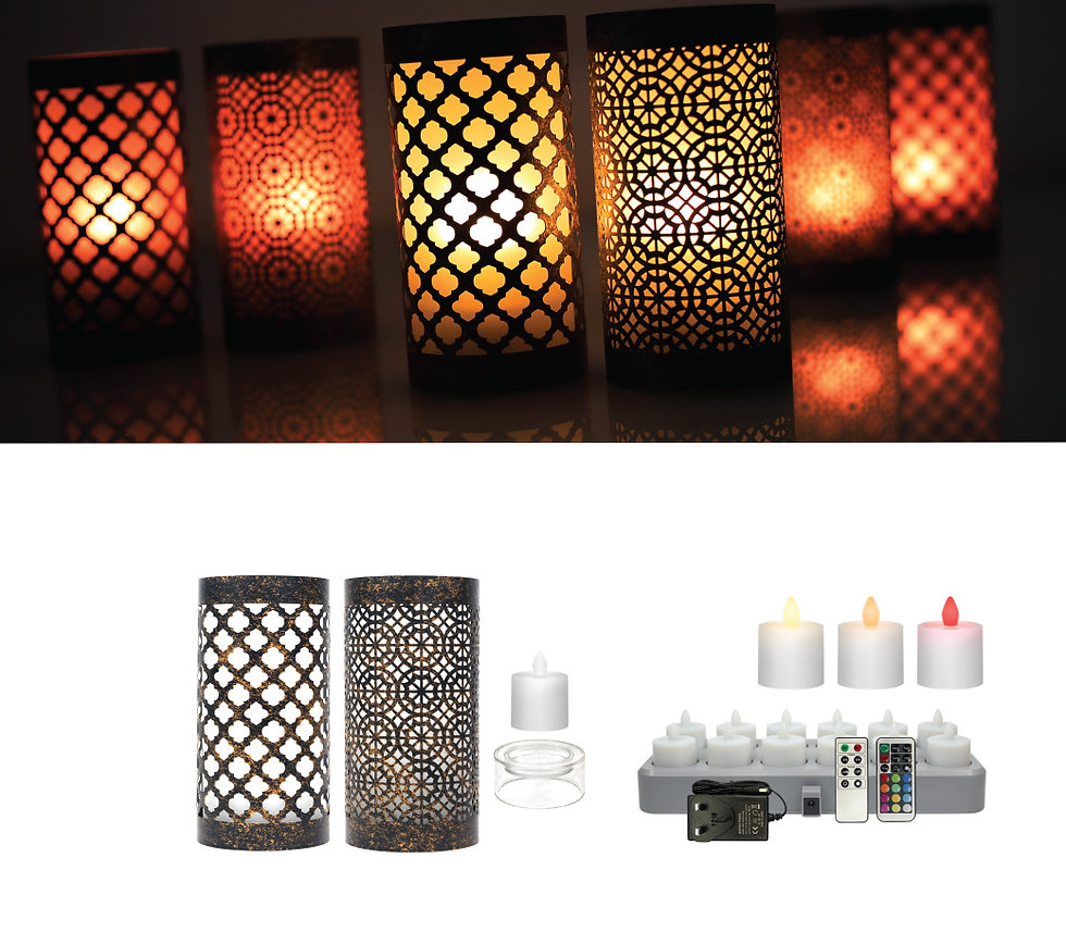 Electric Rechargeable LED Candle Lamps