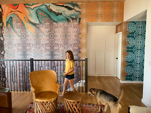 Private Residence Stair Case  Mural