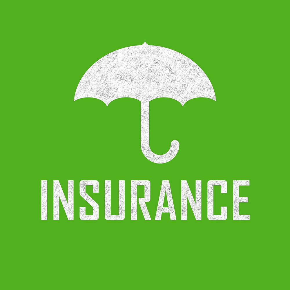 """Image of umbrella with the text below """"insurance"""""""