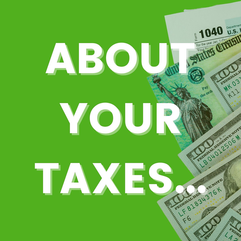 About Your Taxes message with tax documents
