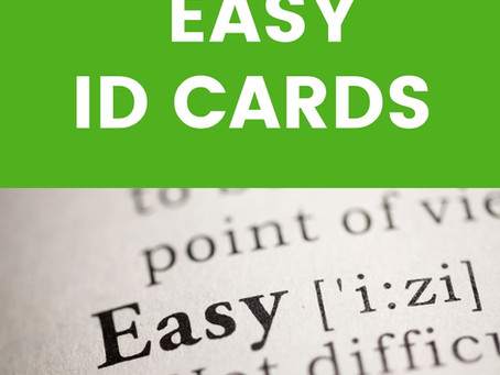EASY WAY TO KEEP ID CARDS UP-TO-DATE