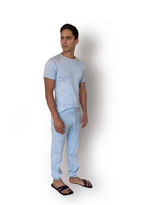 Pantalón T-shirt Punto Azul Celeste