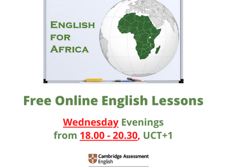 Free Wednesday Evening English Lessons