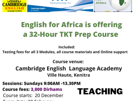 TKT Prep Courses in Morocco