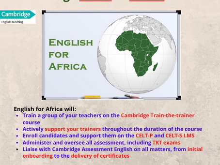 English for Africa is now Offering CELT-P and CELT-S Courses
