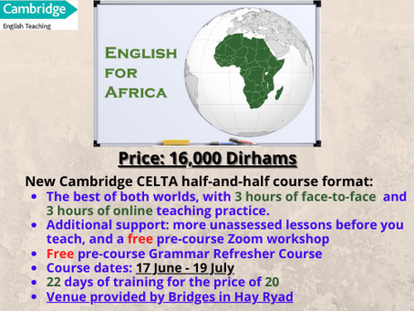 New half-online, half-face-to-face format for our Rabat course