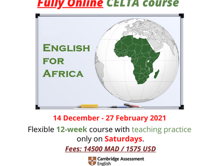 New dates for our next CELTA course