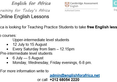 Take Free Online English Lessons with our CELTA Trainees