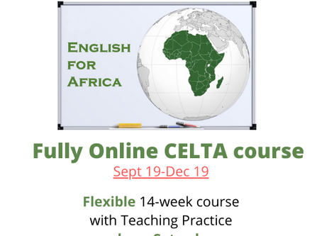 Fall dates for EFA's fully online CELTA course