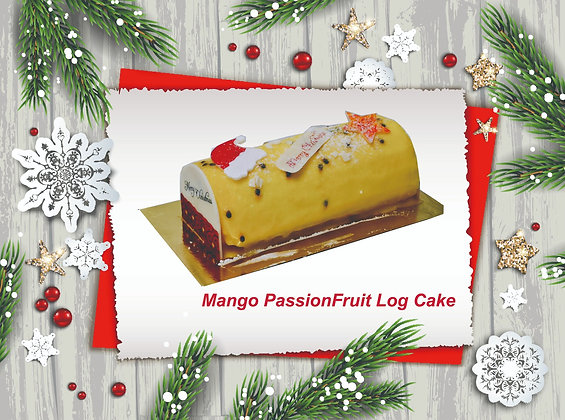 Mango PassionFruit Log Cake