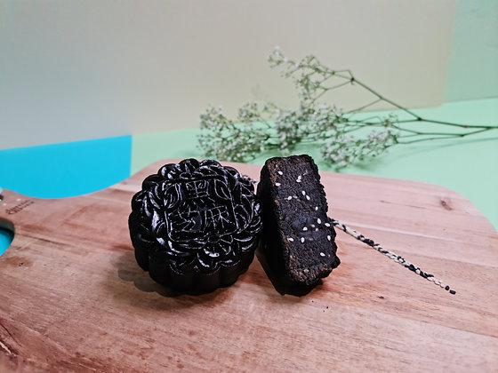 Charcoal Skin Black Sesame Mooncake