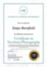 Certificate in Newborn Photography Small