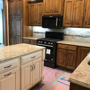 (12) Knotty Alder kitchen