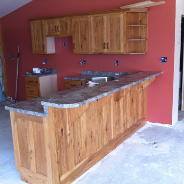 (15) Natural Rustic Hickory Kitchen