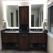 (22) Natural Walnut Master Bath Vanity