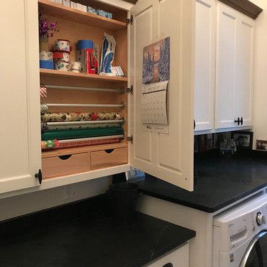 (27) Pantry/Laundry Room. Gift Wrapping Cabinet