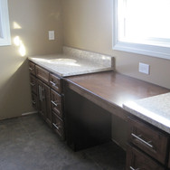 (4) Double Vanity with make up area