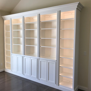 (50) Built in Living Room Cabinet