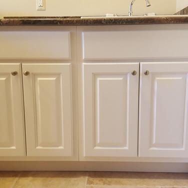 (24) Dove White Laundry Room