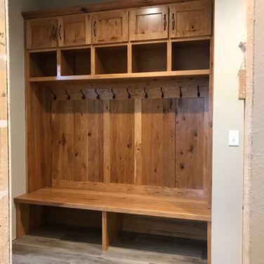 (44) Rustic Hickory Entry Bench