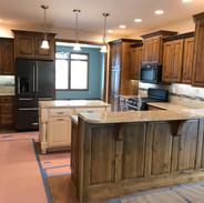 (11) Knotty Alder kitchen