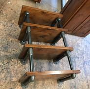 (8) Distressed Knotty Alder open shelves