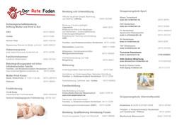 Roter Faden Schwangerschaft bis 1