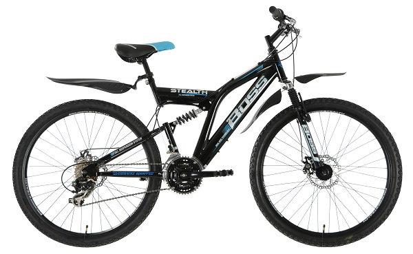 """Boss Stealth Full Suspension Mountain Bike 26"""" Wheel"""