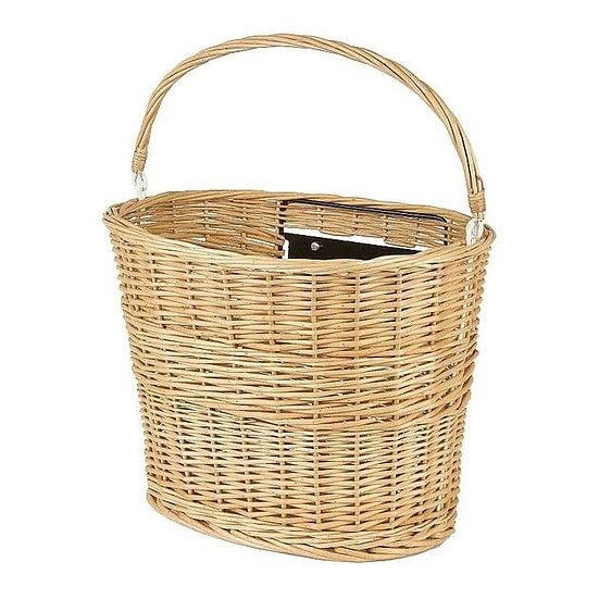 M-Wave Wicker Basket QR Handlebar Fit