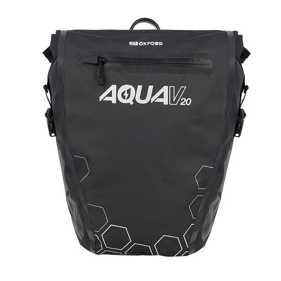 Oxford Aqua V 20 Single QR Pannier Bag Black